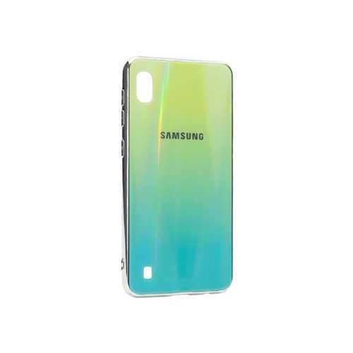 Чехол Samsung Galaxy A10 (2019) силиконовый, хамелеон бирюзовый