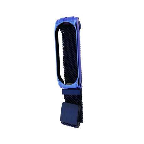 Ремешок для Xiaomi Mi Band 4, металл (миланская петля), синий