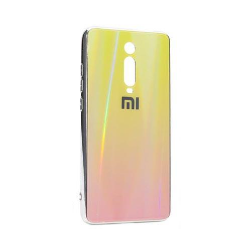 Чехол Xiaomi Mi 9T (2019), силиконовый, хамелеон светло-желтый+бордовый