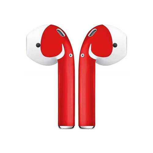 Наклейки на Apple Airpods красный