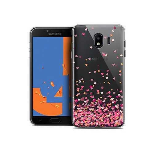 Чехол Samsung Galaxy J4 (2018), гелевый, рисунки сердца