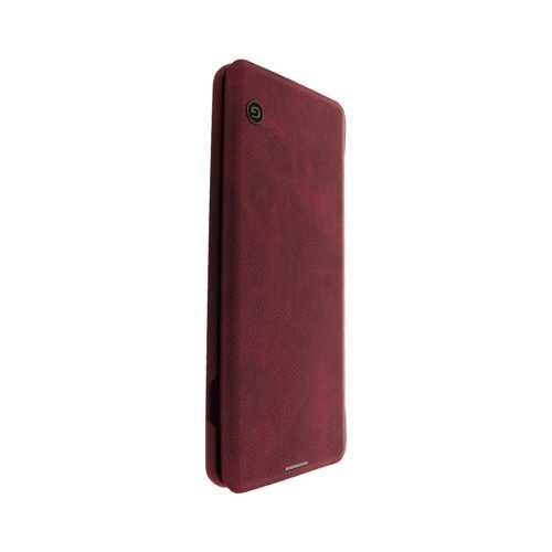Чехол-книжка Samsung Galaxy S10 Plus, кожзам, красный