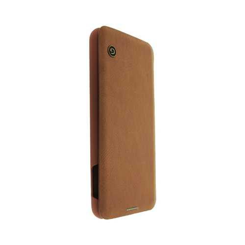 Чехол-книжка Samsung Galaxy S10e кожзам, коричневый