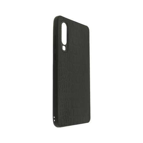 Чехол Huawei P30, силиконовый под кожу, черный