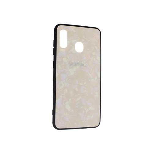 Чехол Samsung Galaxy A20 (2019) силикон, розовый (стеклянный)