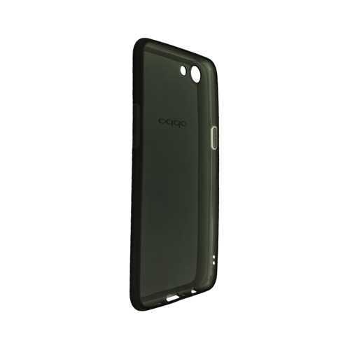 Чехол Oppo A83, гелевый, черный-прозрачный