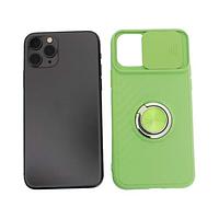Чехол Apple iPhone 11 Pro силиконовый, зеленый защита для камеры