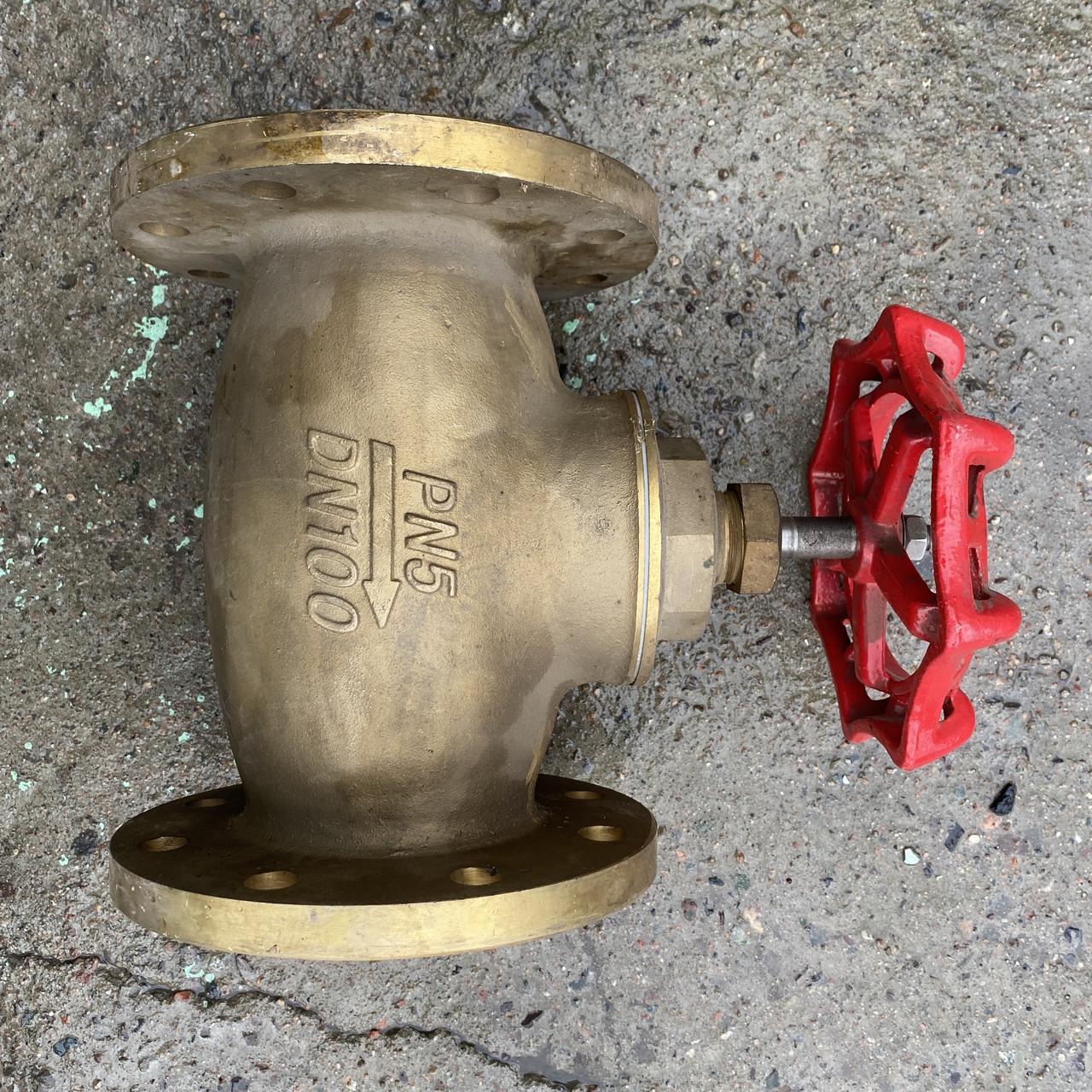 Шаровый кран (фланыевый) DN100 PN25