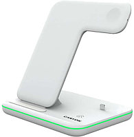 CANYON WS-302 3in1 Wireless charger, with touch button for Running water light, Input 9V-2A, 12V-2A, Output