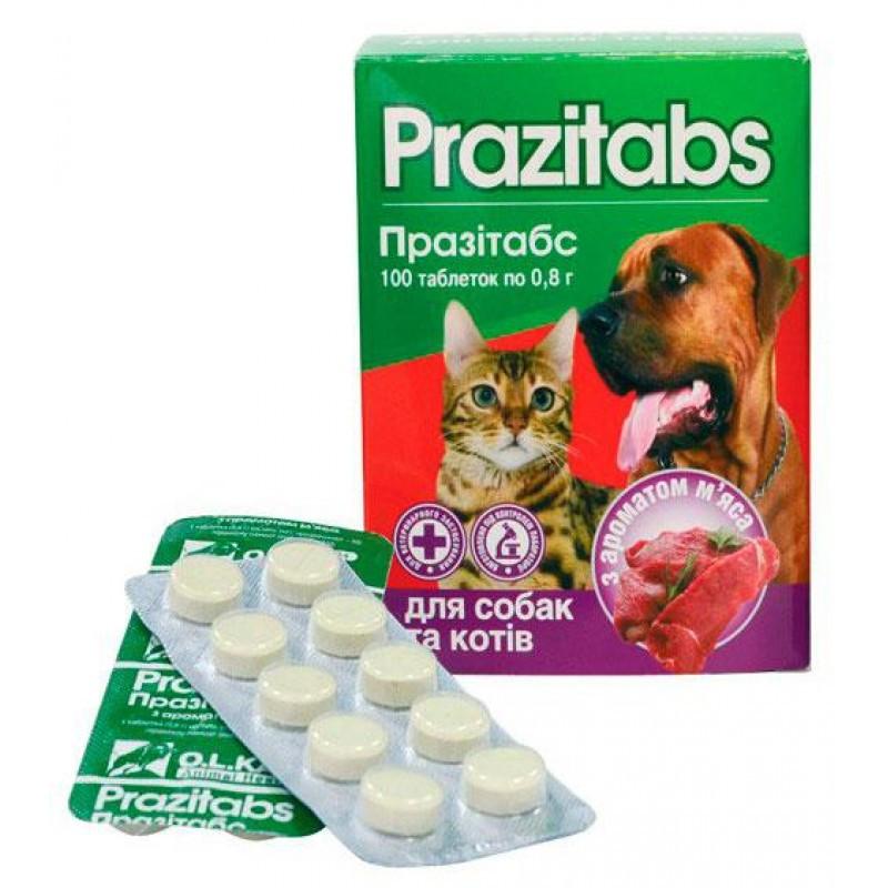 Празитабс Антигельминтный препарат для собак и кошек