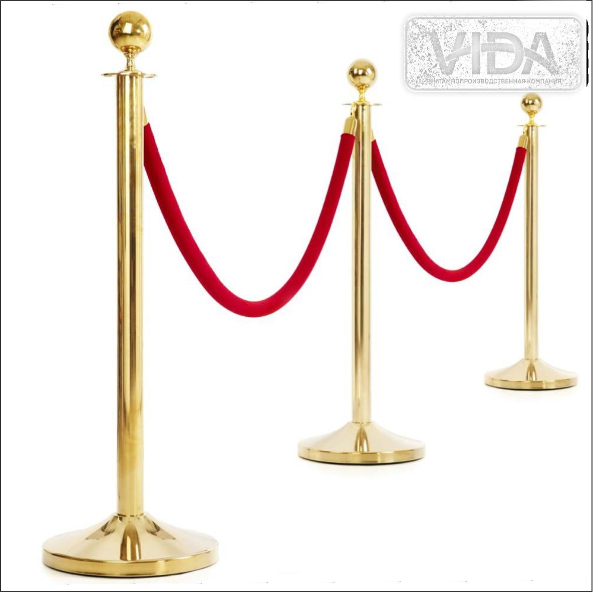 Напольная стойка-ограждение (Золото) без ленты