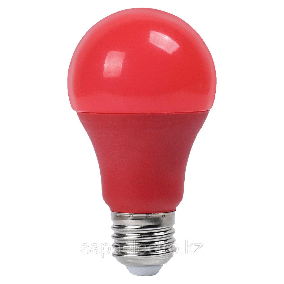 Lampa LED A60 9W NEW E27 RED 100-265V (TL) 100sht