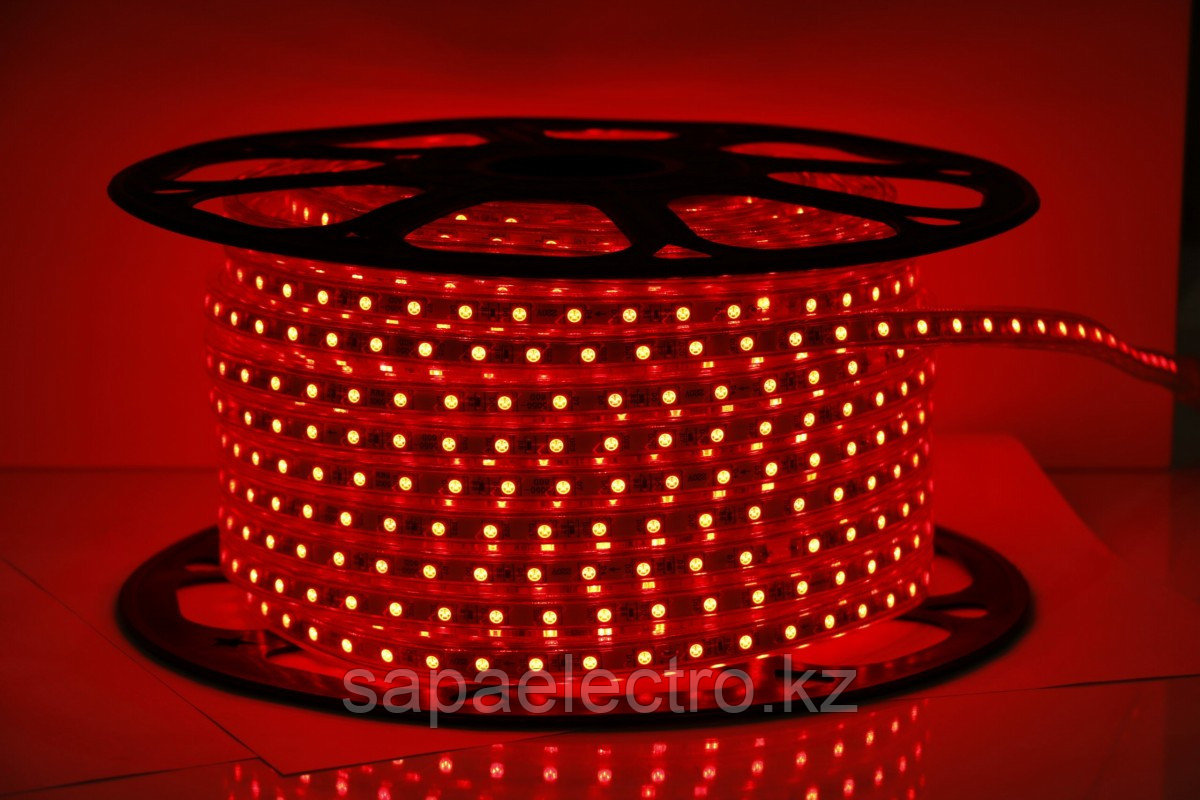 LED Lenta 5050-60L 8W 220V RED (HAIGER) 50m