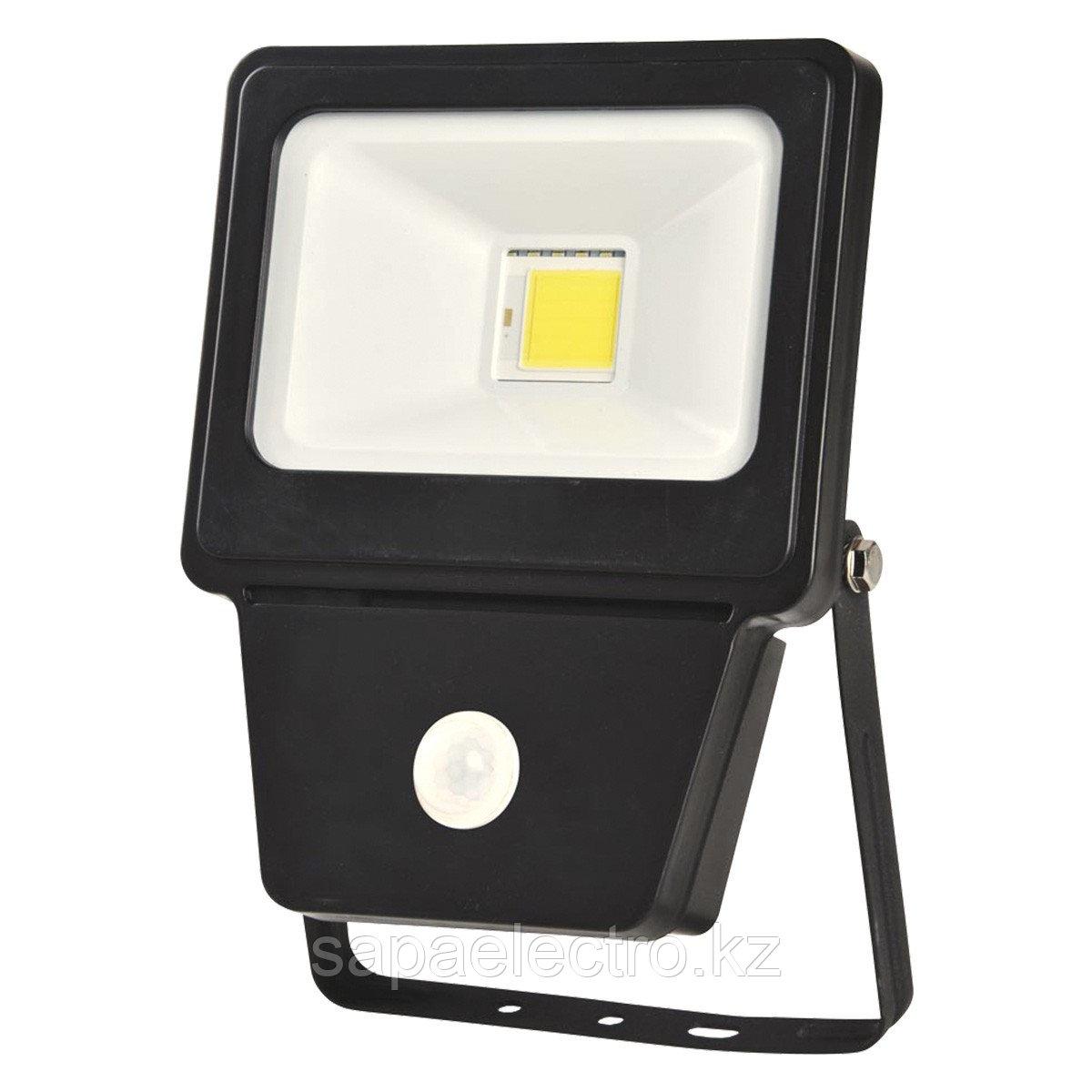 Prozhektor LED COB SENSOR 20W BLACK 6000K (TT)28sh