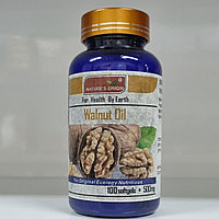 Масло грецкого ореха в капсулах 100 шт - Walnut Oil 100 кап.