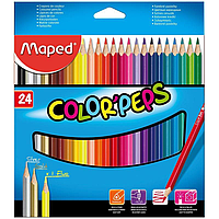 Карандаши цветные Maped COLOR'PEPS, 24 цвета