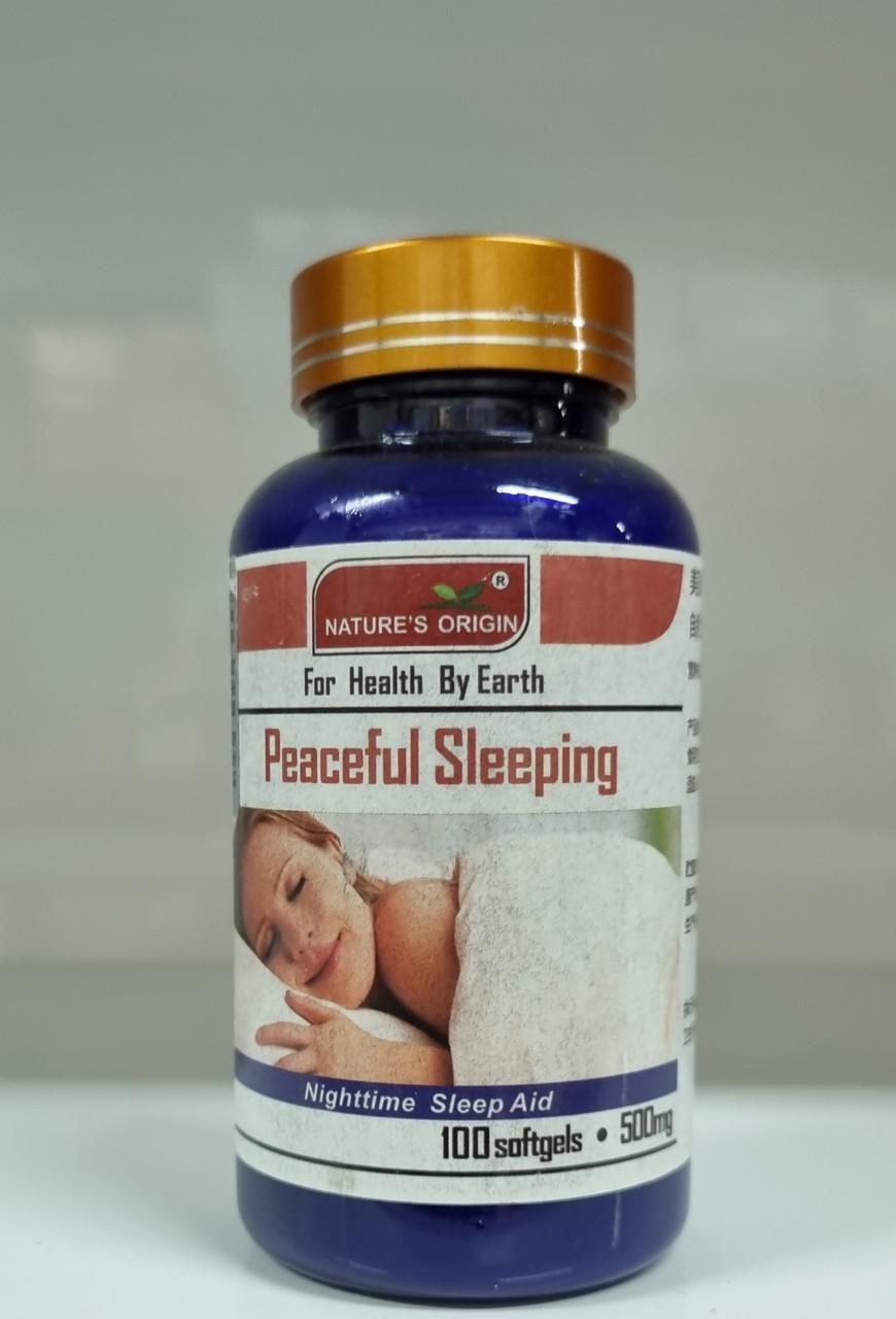 Мелатонин для улучшения сна в капсулах  100 шт - Peaceful Sleeping