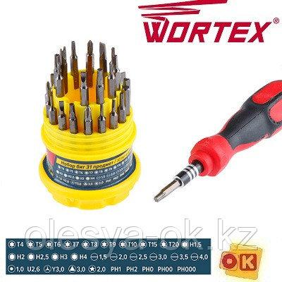 Набор бит 31 пр. Wortex (30 бит и отвертка)