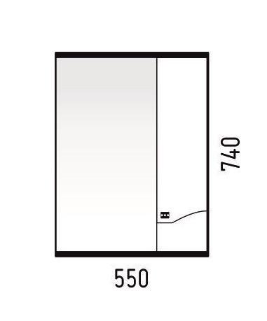 Зеркало-шкаф Corozo Koral Хризантема 55, K503206 - фото 6