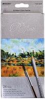 Карандаши акварельные Marco Raffine 24 цвета с кисточкой