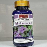 Альфа-Линоленовая кислота в капсулах  100 шт - Alpha-Linolenic Acid