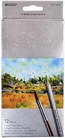 Карандаши акварельные Marco Raffine 12 цветов с кисточкой