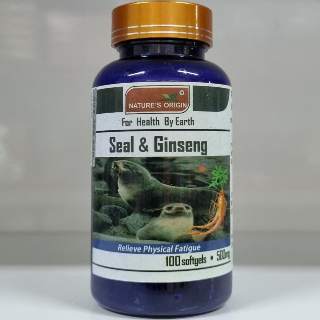 Жир морского котика и Женьшень - Seal and Ginseng 100 кап.
