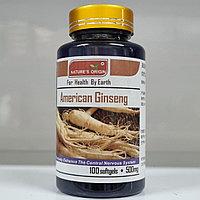 Американский женьшень в капсулах 100 шт - American Ginseng