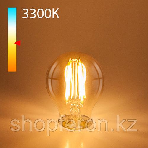 Филаментная светодиодная лампа А60 12W 3300K E27 (тонированная)