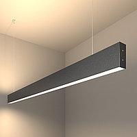Линейный светодиодный подвесной двусторонний светильник 128см 50Вт 4200К черная шагрень