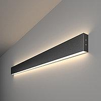 Линейный светодиодный накладной двусторонний светильник 103см 40Вт 4200К черная шагрень