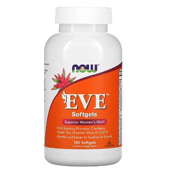 Now Foods, EVE, превосходные мультивитамины для женщин, 180 капсул