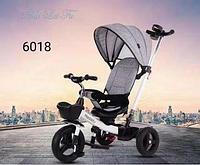 Детский трехколесный велосипед 6018 серый