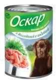 Оскар 350 гр для щенков с телятиной и индейкой консервы