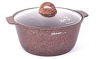 """Кастрюля-жаровня 5 литров со стеклянной крышкой, """"Granit ultra"""" (red), фото 1"""