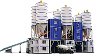 Стационарный бетонный завод HZS(БРУ)