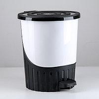 Урна педальная пластиковая 8 литров, фото 1