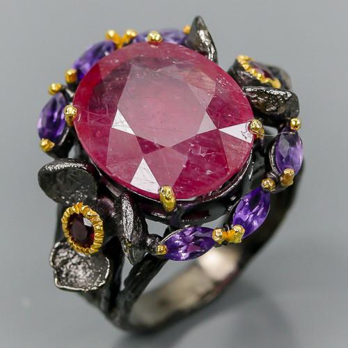 Кольцо с Рубином 16 мм