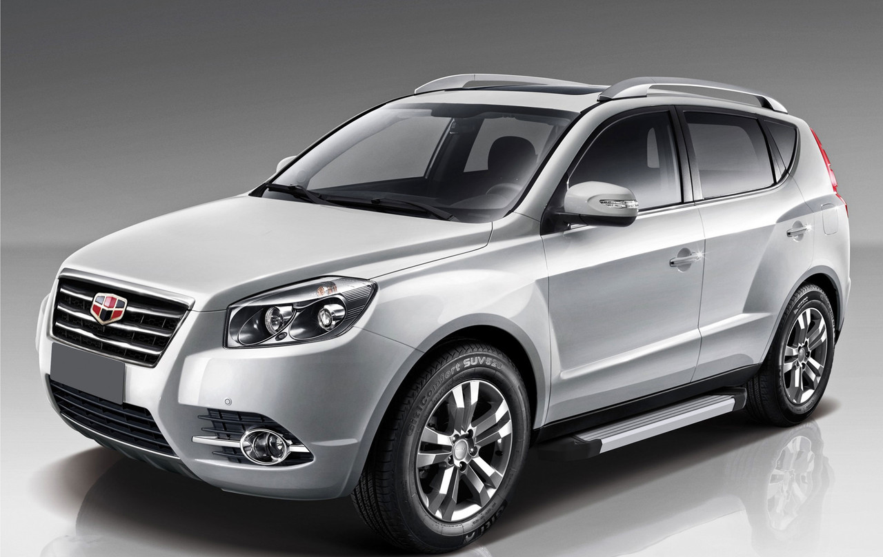 """Пороги """"Silver""""  Geely Emgrand X7 (2013-2019)"""