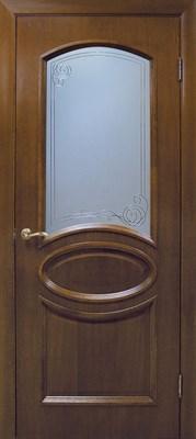 Полотно Омис дверное Лаура КР 800*2000*40 дуб тонированный под орех