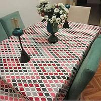 Ткань с тефлоновой пропиткой для скатертей, фартуков, подушек, уличных штор и обивки мебели.