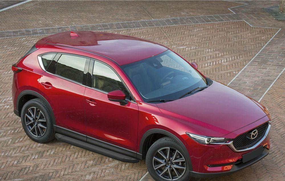 """Пороги """"Premium-Black"""" Mazda CX-5 (2017-)"""