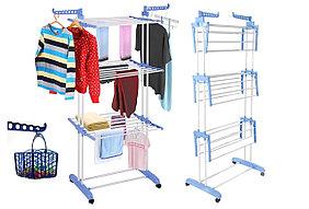 Сушилка для Белья Трехуровневая для одежды и обуви Мобильная Spray Painting Clothes Hanger 35м
