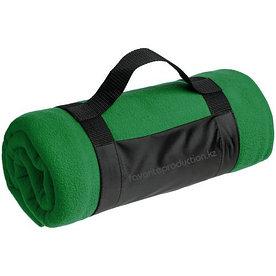 Плед флисовый с ручкой Manta, темно-зеленый