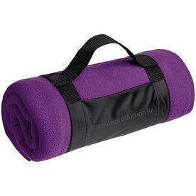 Плед флисовый с ручкой Manta, фиолетовый