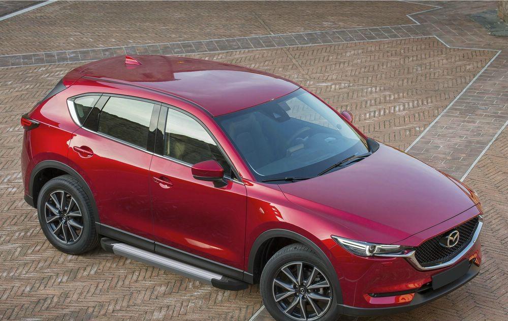 """Пороги """"Silver"""" Mazda CX-5 (2017-2021)"""