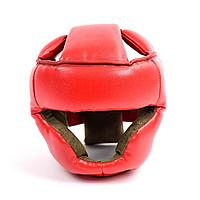 Шлем бокс закрытый кожанный