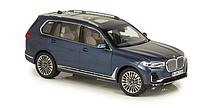 Модель 1/18 BMW X7 2019 G07 серо-синий металлик