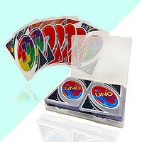 Карточная настольная игра Uno H2O водонепроницаемые пластиковые с чехлом 110 карт