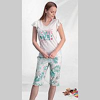 Пижама женская 1 XL/50-52, Кремовый